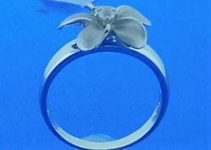 Denny Wong Plumeria Ring, Precious Silver