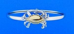 Steven Douglas Crab Bangle Bracelet, Sterling Silver/14k