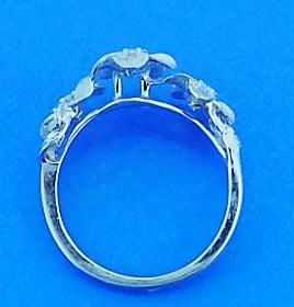 Denny Wong 3 Plumeria Ring, Precious Silver