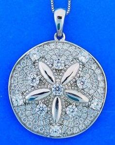 Sand Dollar Pendant, Sterling Silver