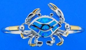 Crab Opal Interchangeable Top, Sterling Silver