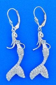 Mermaid Pendant, Sterling Silver