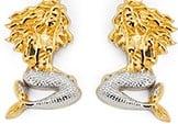 Mermaid Post Earrings, 14k 2-Tone