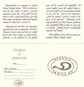Steven Douglas Shell Bangle Bracelet Sterling Silver/14k