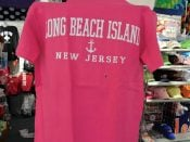 Lbi Adult Tee, Anchor, Pink