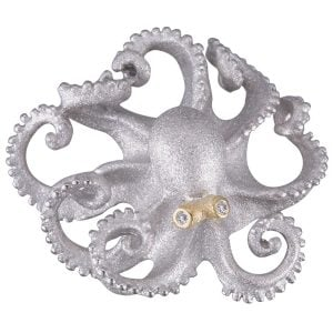 Denny Wong Octopus Beach Collection Pendant/Slide, Precious Silver