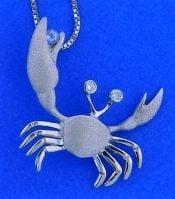 Denny Wong Crab Pendant, Precious Silver