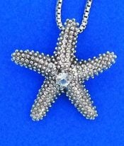 Denny Wong Starfish Pendant, Precious Silver