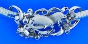 Denny Wong Dolphin & Coral Slide, Precious Silver