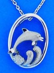 Denny Wong Dolphin Pendant, Precious Silver