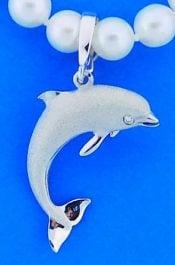 Denny Wong Dolphin Pendant/Enhancer,  Precious Silver