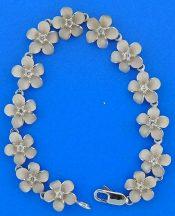 Denny Wong Plumeria Bracelet, Precious Silver