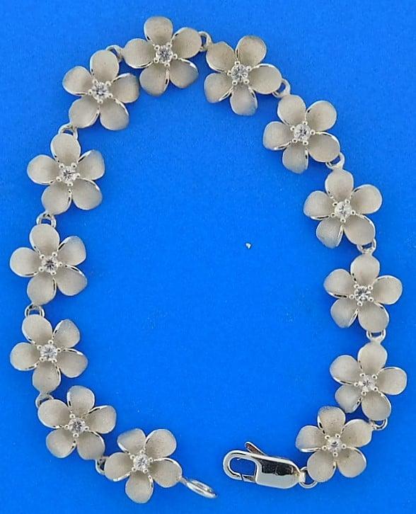 Denny Wong Plumeria Bracelet Precious Silver