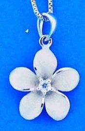 Denny Wong Plumeria Pendant, Precious Silver