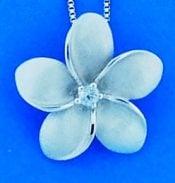 Denny Wong Plumeria Enhancer/Pendant, Precious Silver