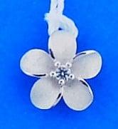 Denny Wong Plumeria Slide/Pendant, Precious Silver
