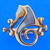Steven Douglas Seahorse Ring, 14k Rose Gold