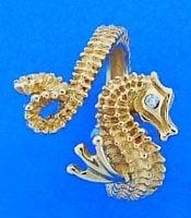 Steven Douglas Seahorse Wrap Ring, 14k