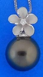 Denny Wong Tahitian Pearl Enhancer/Pendant, 14k White Gold