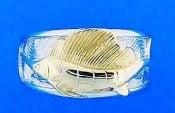 Sailfish 2-Tone Mens Ring, Sterling Silver