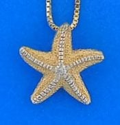 Starfish Diamond Pendant, 14k