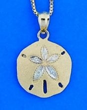 Sand Dollar Diamond Pendant, 14k