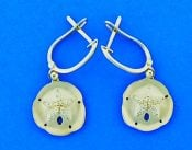 Sand Dollar Diamond Earrings, 14k