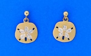 Denny Wong Sand Dollar Earrings, 14k Yellow Gold