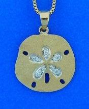 Denny Wong Sand Dollar Pendant, 14k Yellow Gold