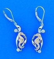 Denny Wong Seahorse Earrings, 14k 2-Tone