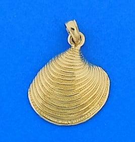 Clam Shell Charm/Pendant, 14k
