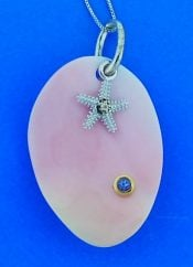 Denny Wong Pink Conch Starfish Pendant, Precious Silver/18k