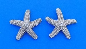 Denny Wong Starfish Earrings, Precious Silver