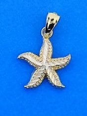 Starfish Charm/Pendant, 14k 2-Tone