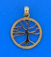 Tree Of Life Pendant, 14k, 3d