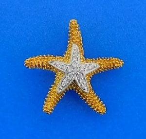 Denny Wong Starfish Beach Collection Pendant/Slide, 14k Yellow Gold