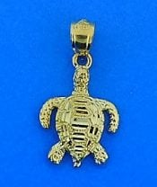 Sea Turtle Charm/Pendant/14k