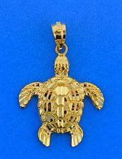 Sea Turtle Charm/Pendant, 14k