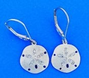Denny Wong Sand Dollar Lever Back Earrings, Precious Silver
