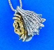 Steven Douglas Hermit Crab Pendant, Sterling Silver/14k