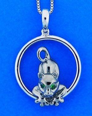 Steven Douglas Black Cat On Sterling Silver Ring, Sterling Silver