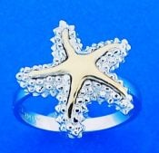 Steven Douglas Starfish Ring, Sterling, Silver/14k