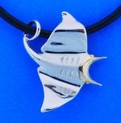 Steven Douglas Manta Ray Necklace,  14k/Sterling Silver