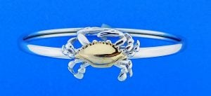 Steven Douglas Crab Bangle Bracelet, Sterling Silver/14k