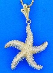 Steven Douglas Starfish Pendant, 14k