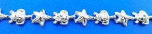 Starfish Seaturtle, Sealife Bracelet, Sterling Silver