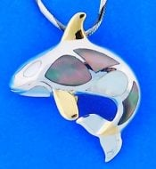 Orca Pendant, Sterling Silver