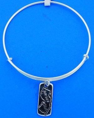 Jersey Girl Adjustable Charm Bracelet/Bangle, Sterling Silver