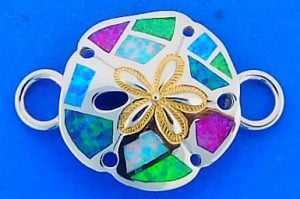 Sand Dollar Interchangeable Top, Sterling Silver