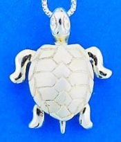 Sea Turtle Pendant, Sterling Silver